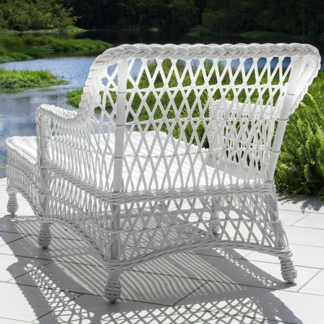 Adjustable White Wicker Chaise Lounge Pictures 22