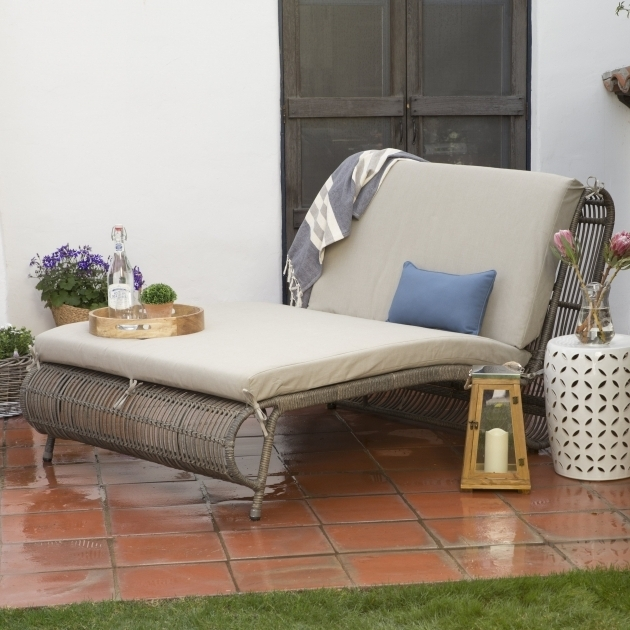 Belham Living Marcella Wide Wicker Double Wide Chaise Lounge With Ottoman Picture 20