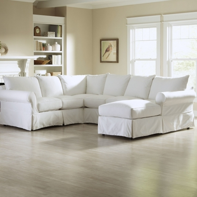 Slipcovered Sofa With Chaise Chaise Design