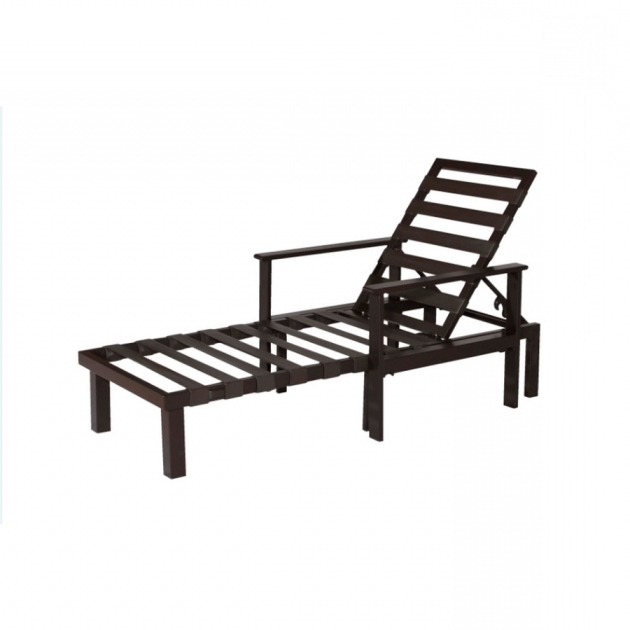 Chaise Lounge Outdoor Lowes Allen Roth Modular Slat Steel Patio Photo 08