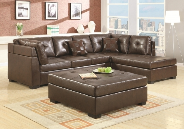 Chaise Lounge Sofa With Ottoman Furniture Living Room L Shaped Brown Leather Sectional Sofa Images 44