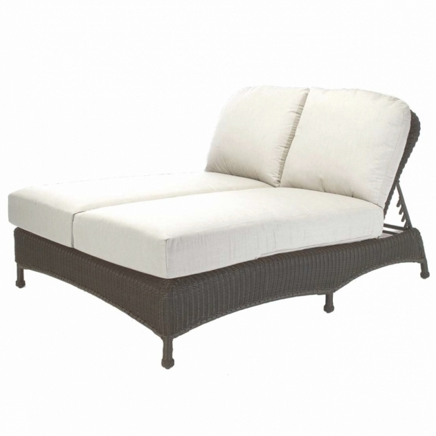 Classic Wicker Double Chaise Lounge Cushions Photos 19