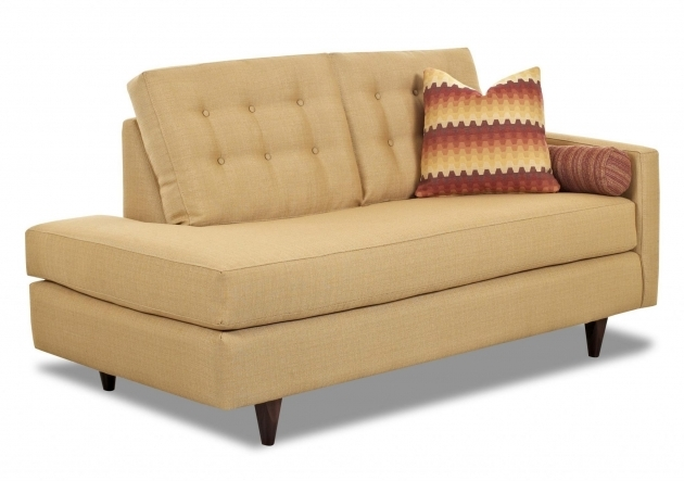 Contemporary Left Arm Chaise Lounge With Tufted Back  Images 04