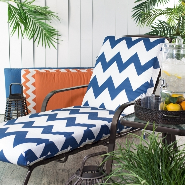 Coral Coast Valencia Outdoor Chaise Lounge Pads Cushion Boxed Edge Image 00
