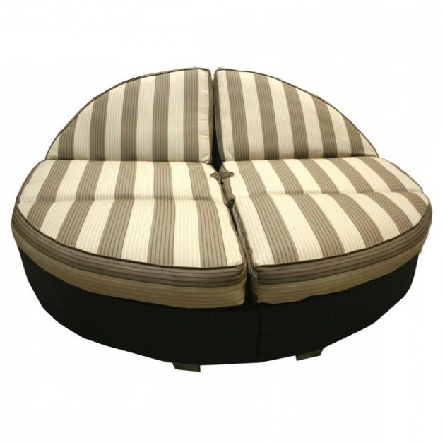 Design Of Patio Round Double Chaise Lounge Cushions Outdoor Pictures 36