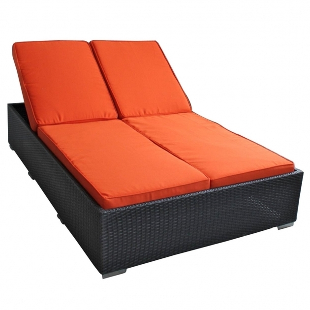 Double Chaise Lounge Cushions Orange Sale Photo 98