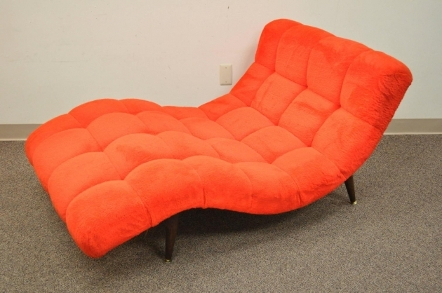 Double Wide Chaise Lounge Furniture Orange Image 46