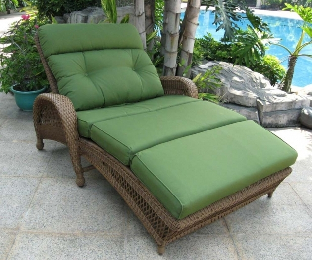 Double Wide Chaise Lounge Green Outdoor Furniture Photo 93