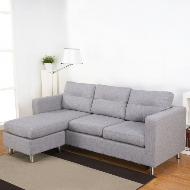 Faux Leather Sectional Sofa With Reversible Chaise Lounge Mixed White Shades Photo 93