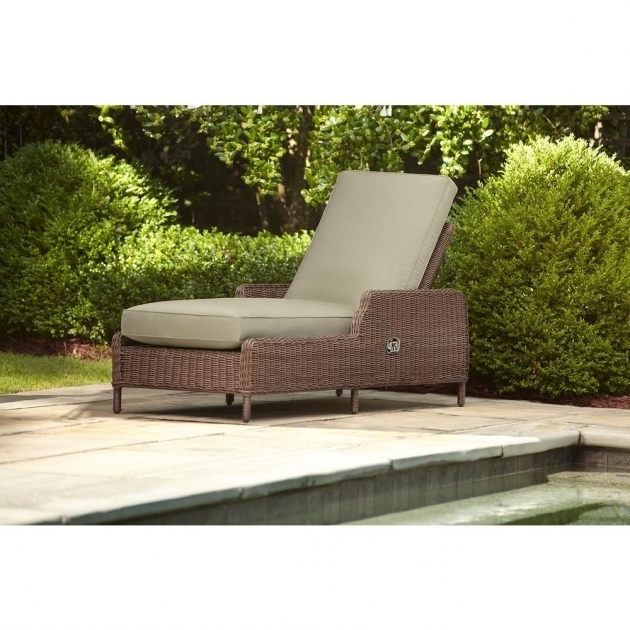 Hampton Bay Oak Heights Patio Outside Chaise Lounge With Cashew Cushions Image 30