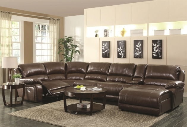 Leather Sectional Sofa With Recliner And Chaise Lounge Images 57