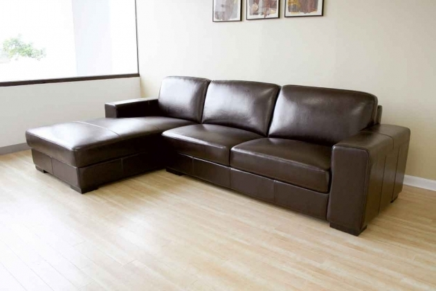 Leather Sleeper Sectional Sofa With Chaise Picture 63