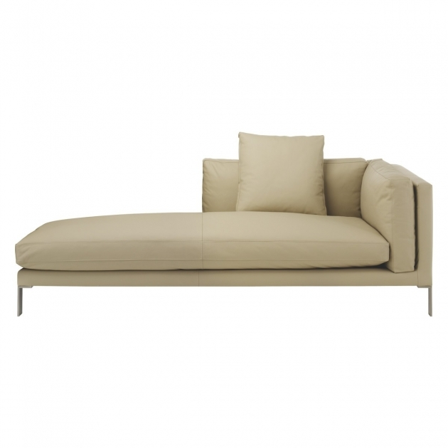 Left Arm Chaise Lounge Newman Cream Leather Pictures 28