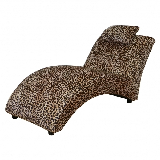 Leopard print chaise cheetah print chaise lounge for Animal print chaise