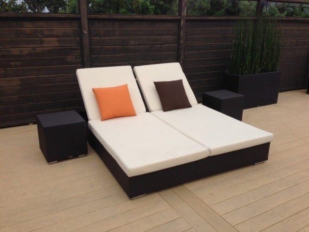 Mandarin Double Chaise Lounge Cushions Commercial Outdoor Furniture Pictures 87