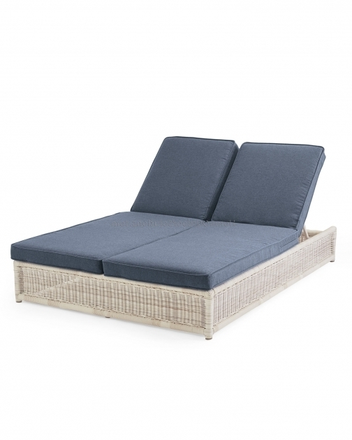 Outdoor Double Chaise Lounge Cushions Replacement Wicker Photo 78