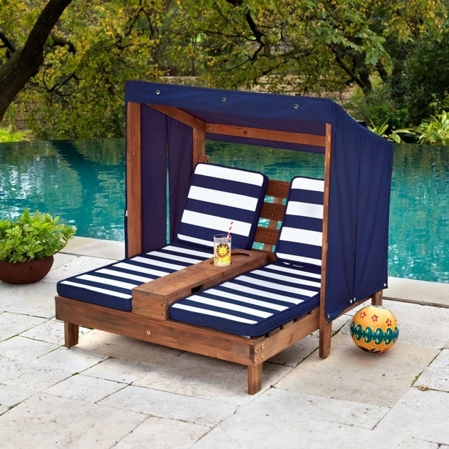 Outdoor Kidkraft Double Chaise Lounge Patio Furniture Pool Child Relaxation Picture 36