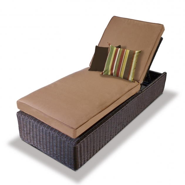 Outdoor Wicker Chaise Lounge Pads Images 26