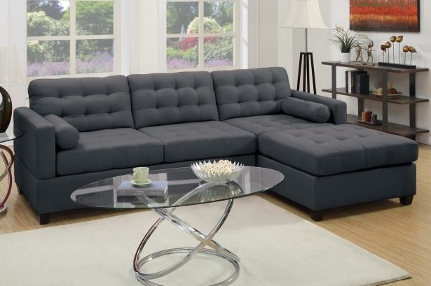 Poundex Bobkona Hardin Sofa With Reversible Chaise Lounge F7587 F7588 Pictures 24