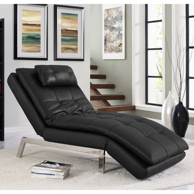 Serta Futons Vienna Convertible Chaise Lounge Black Picture 22
