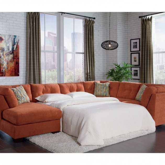 Sleeper Sectional Sofa With Chaise Convertible Style Picture 70