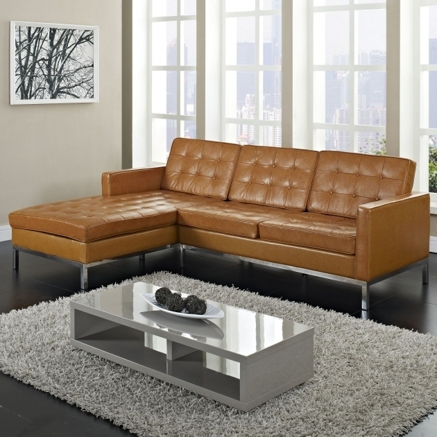 Sleeper Sectional Sofa With Chaise For Small Space Top Grain Leather Photo 75