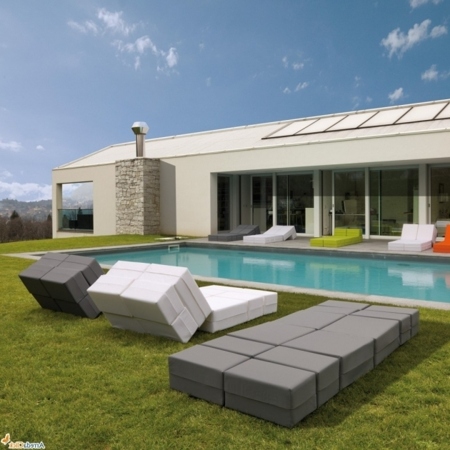 Ultra Modern Outside Chaise Lounge Grey And White Images 98