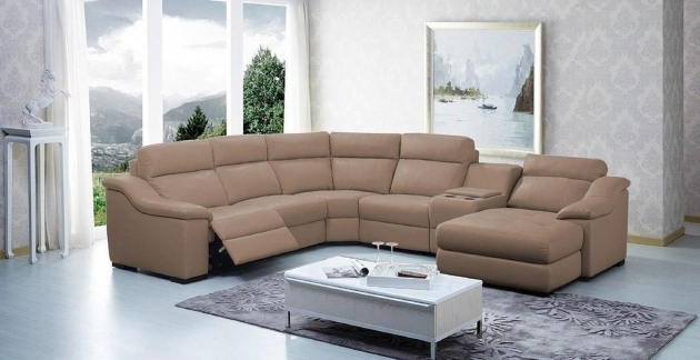 Vig Divani Casa Saffron Leather Sectional Sofa With Recliner And Chaise Lounge Console Design Images 73