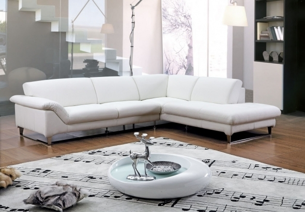 White Leather Sectionals With Chaise Living Room Furniture Decor Pictures 72
