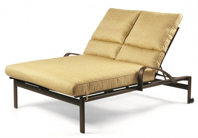 Winston Belvedere Aluminum Double Chaise Lounge Cushions Cover Picture 04