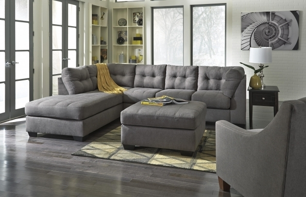 2 Piece Sectional Sofa With Chaise Benchcraft Maier Charcoal Images 71