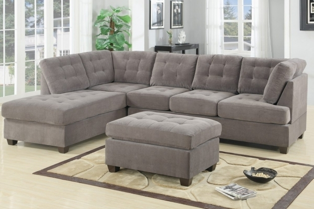 Apartment Size Tufted Sectional Sofa With Chaise Furniture And Ottoman  Image 97