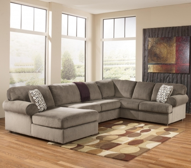 Ashley Furniture Sectional Sofa With Chaise Signature Design Jessa Place Dune Casual Pictures 22