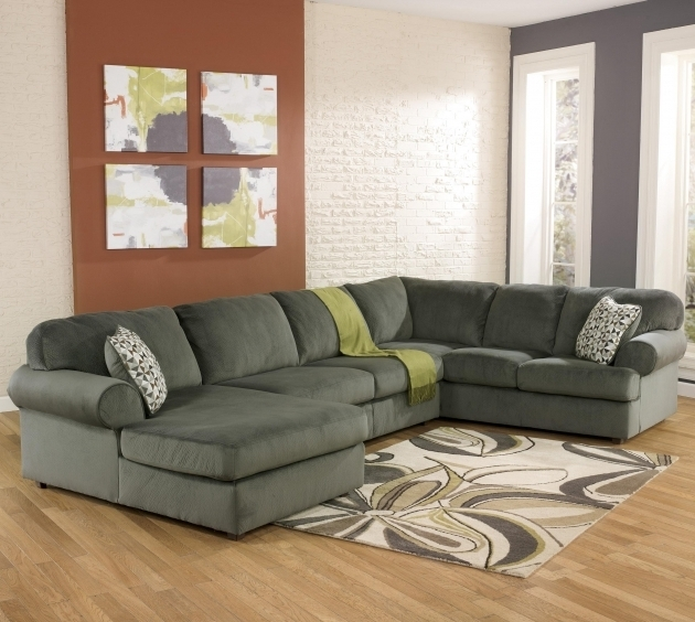 Ashley Furniture Sectional Sofa With Chaise Signature Design Jessa Place Pewter Casual Picture 13