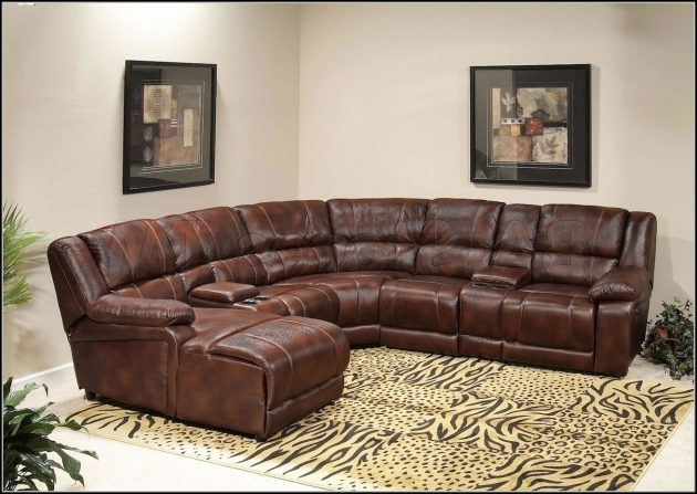 Brown Leather Sectional With Chaise And Recliner Pictures 50