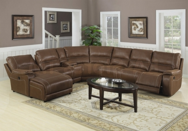 Brown Leather Sectional With Chaise Lounge And Recliners Photos 62