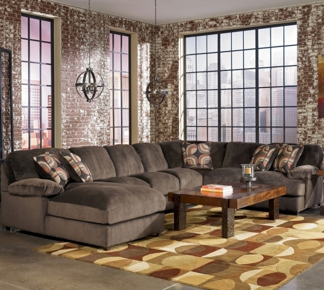 Fantastic Gray Velvet Oversized Extra Large Sectional Sofas With Chaise Photo 79