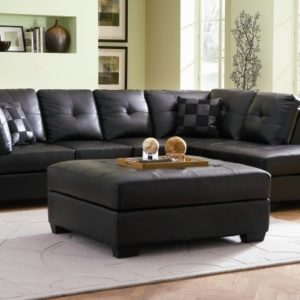 Leather Sectional with Chaise Lounge