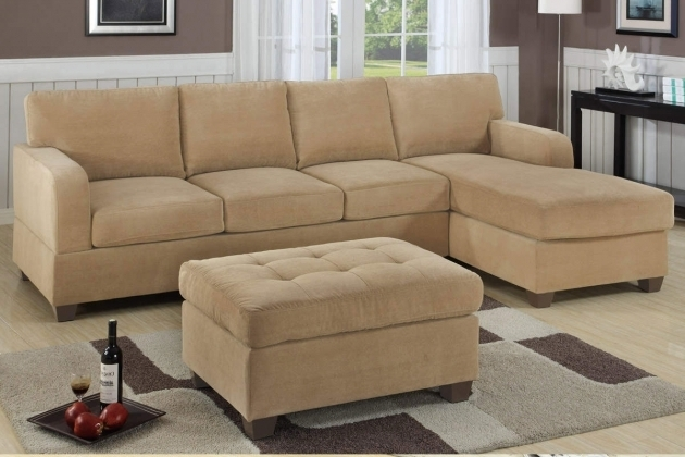 Light Brown Tufted Sectional Sofa With Chaise Small Space Living Room Furniture Photos 15