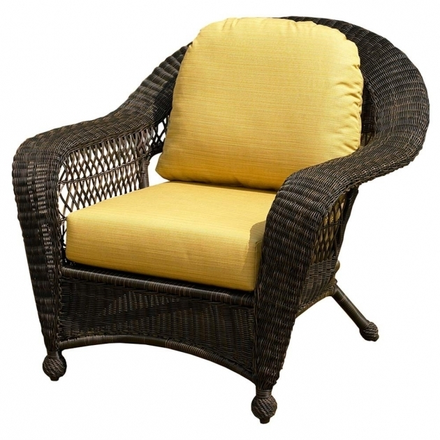 North Cape Wicker Port Royal Chair With Chaise Lounge Replacement Cushions Images 05