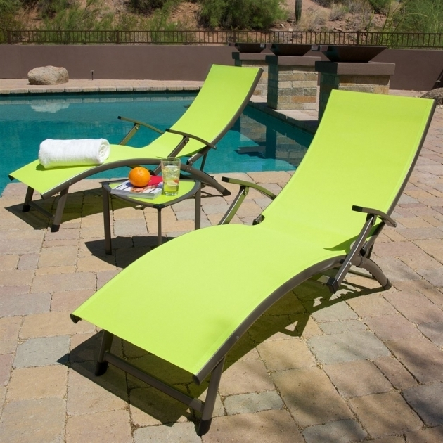Outdoor Sling Chaise Lounge Chair Set Photos 07