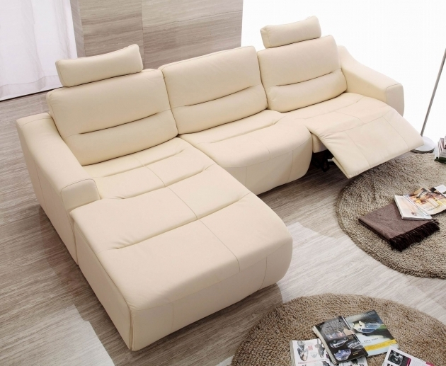 Power Reclining Leather Sectional With Chaise And Recliner Furniture Photo 02