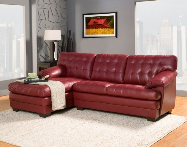 Red Sectional Sofa With Chaise Small Furniture Design Image 09