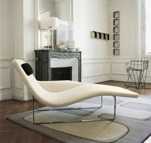Small Chaise Lounge Chair Style Indoor Photo 41