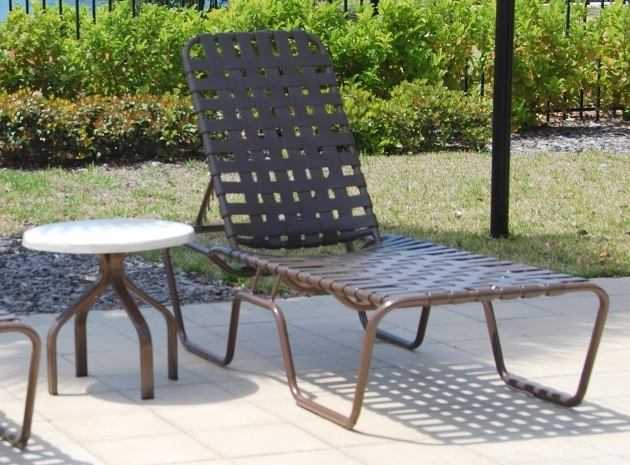 Strap Aluminum Modern Patio Chaise Lounge Sale Photo 83