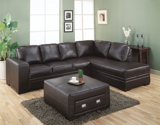 Stylish Leather Sectional With Chaise Lounge Dark Brown With Square Ideas Image 05
