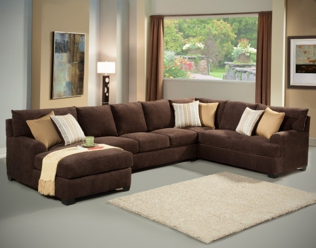 Large sectional sofas with chaise for Brown sectional sofa with chaise