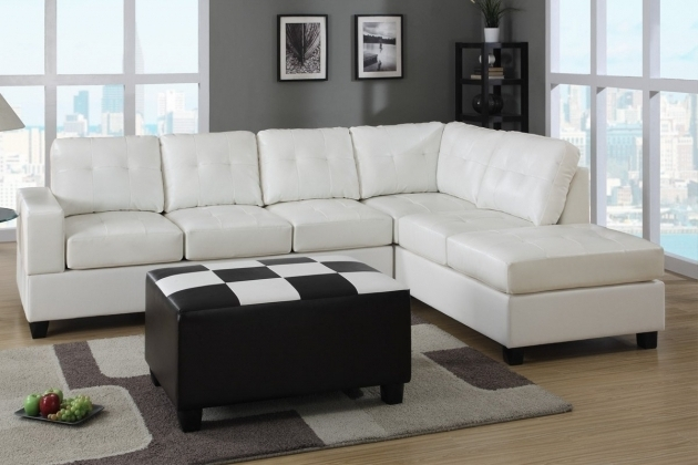 White Leather Ashley Furniture Sectional Sofa With Chaise Photo 05