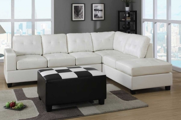 White Leather Sectional With Chaise Lounge Photo 92