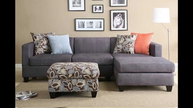 2 Pc Charcoal Microfiber Sectional Sofa With Chaise Reversible Images 03